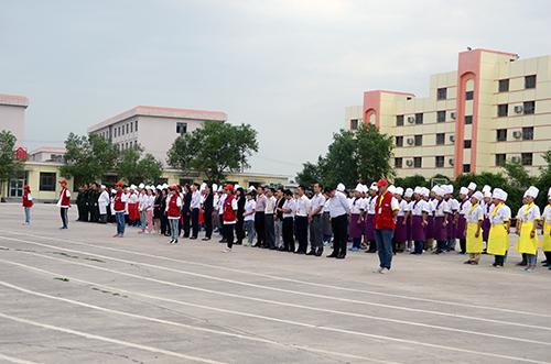 新疆新东方烹饪学校升旗仪式